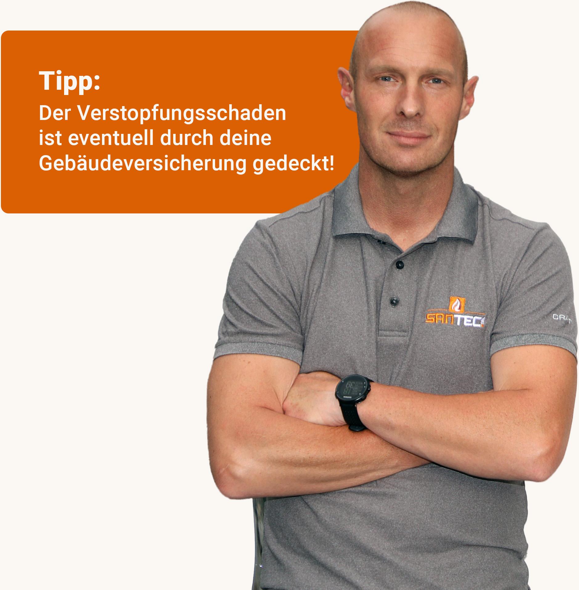 SanTec Tirol Kanalsanierung und Kanalservice GmbH - Inspektion, Sanierung und Verlegung - Kanalreinigung Notdienst - SanTec Person Info - Bild