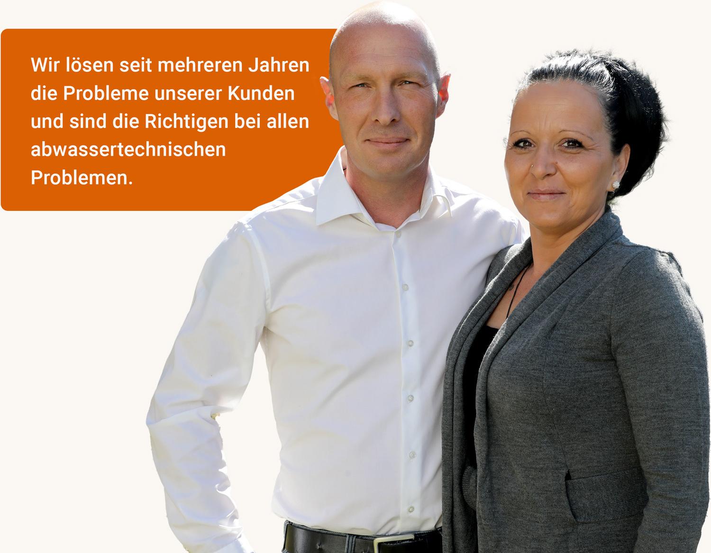 SanTec Tirol - Kanalsanierung und Kanalservice GmbH - Inspektion, Sanierung und Verlegung - Kanalreinigung Notdienst - SanTec 2 Personen Bild
